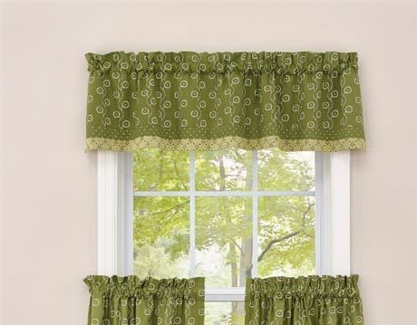 Park Designs Bordered Valance, Wythe Garden