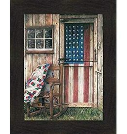 "Summer Snow Art American Rocker Framed Print by Ed Wargo 20.5"" x 16.5"""