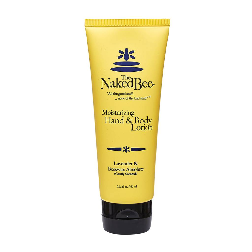 The Naked Bee Lavender & Beeswax Absolute Hand & Body Lotion 2.25 oz