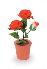 TIMELESS MINIS POTTED RED ROSES 1.625IN