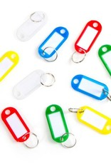 KEY RING W PLASTIC BRAND 12PC