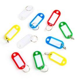 KEY RING W PLASTIC BRAND 12PC