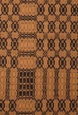 "Pine Creek Traditions Westbury Queen Bed Cover Black & Mustard, 94"" x 104"""