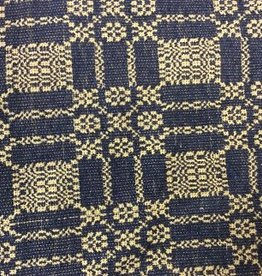 "Pine Creek Traditions Autumn Frost Weave Navy Short Runner 14"" x 32"""