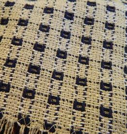 "Mountain Weavers Woven Runner, Stone & Navy 36"""