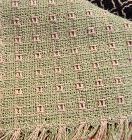 "Mountain Weavers Woven Runner, Sage & Stone 36"""