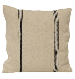 Black Stripe Pillow Case, zippered