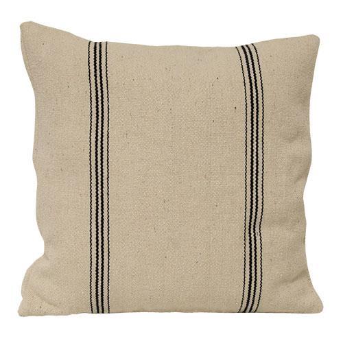 Black Stripe Pillow Case, zippered