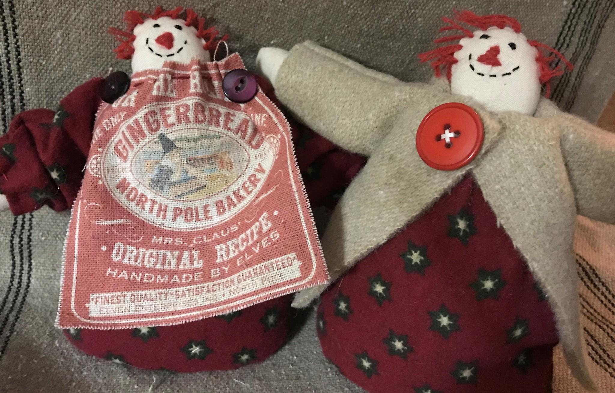 Homemade Winter Raggedy w/ Wool Coat