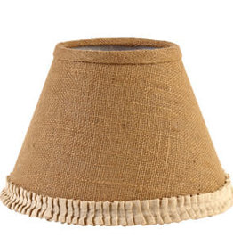 """The Country House Collection 10"""" Burlap & Cream Pleated Edge Lamp Shade"""