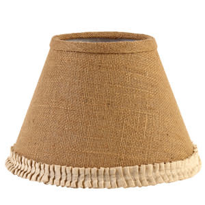 "The Country House Collection 10"" Burlap & Cream Pleated Edge Lamp Shade"