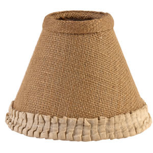"The Country House Collection 6"" Burlap & Cream Pleated Edge Lamp Shade, 6"" in diameter at the base and 4.75"" high"
