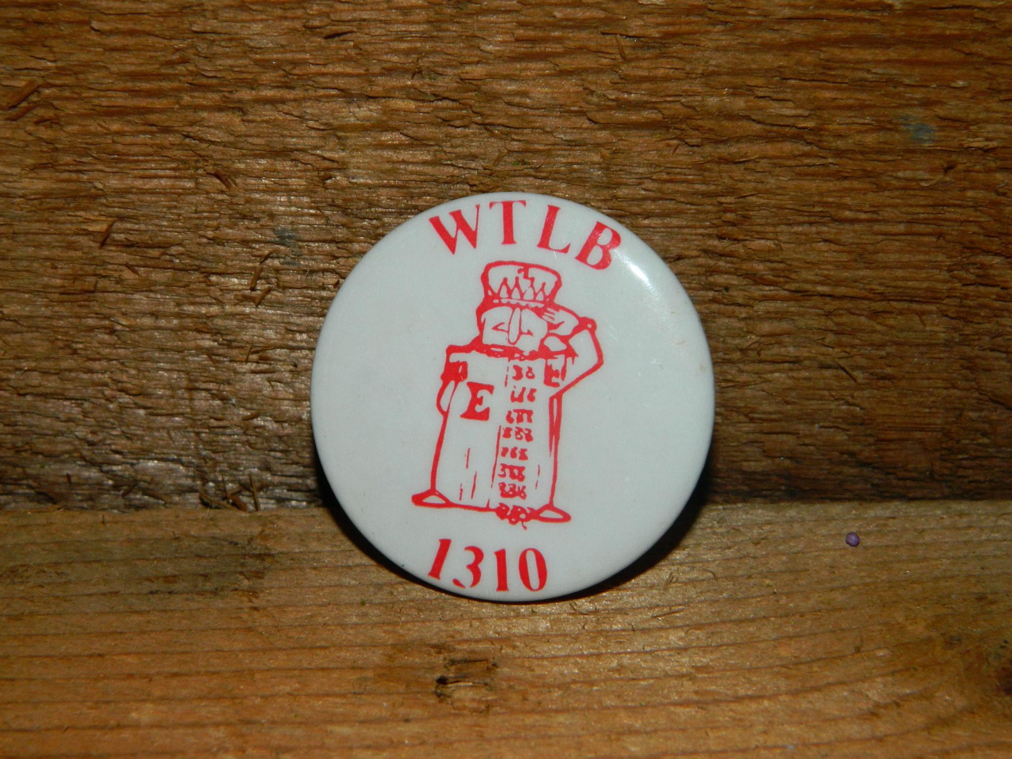 Utica Radio Station WTLB 1310 Pin, Vintage