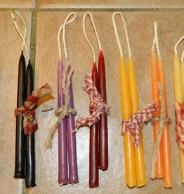 "The Old Candle Barn, Inc. Hanging Tapers Dark Brown 4"" Slim"