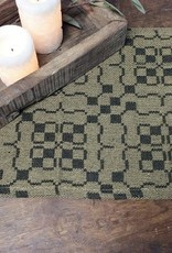 "Pine Creek Traditions Salem Weave Short Runner, 14"" x 32"" Black/Tan"