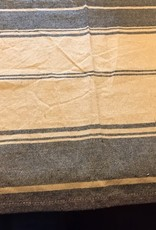 "Pine Creek Traditions Farmhouse Striped Towel, Tan/Black  Approx 18"" x 25"""