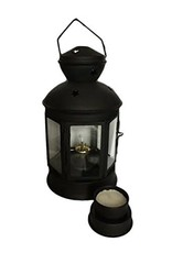 The Old Candle Barn, Inc. Black Hexagon Oil/Candle Lantern