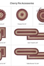 "Homespice Decor Cherry Pie Ultra Wool Braided Oval Mat 10"" x 15"""