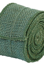 """The Country House Collection 2"""" x 10' Aqua Burlap Ribbon"""