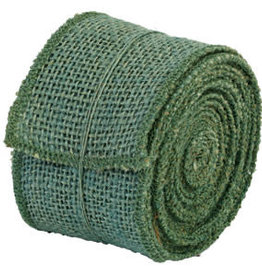 "The Country House Collection 2"" x 10' Aqua Burlap Ribbon"