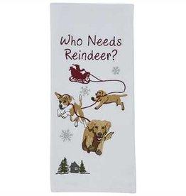 Park Designs Who Needs Reindeer Dishtowel