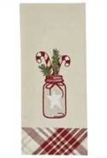 Park Designs Mason and Peppermint Dishtowel