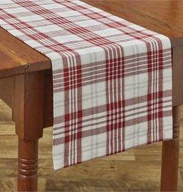 "Park Designs Peppermint Plaid Table Runner 13""x36"""