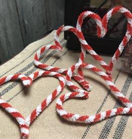 Homemade Chenille Stem Hearts, set of 4