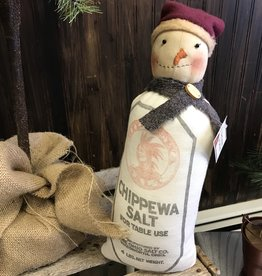 Homemade Chippewa Salt Snowman