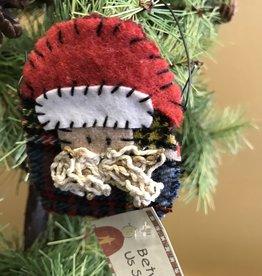 Homemade Wool Santa Ornament