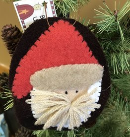 Homemade Wool Santa Hanging, Large