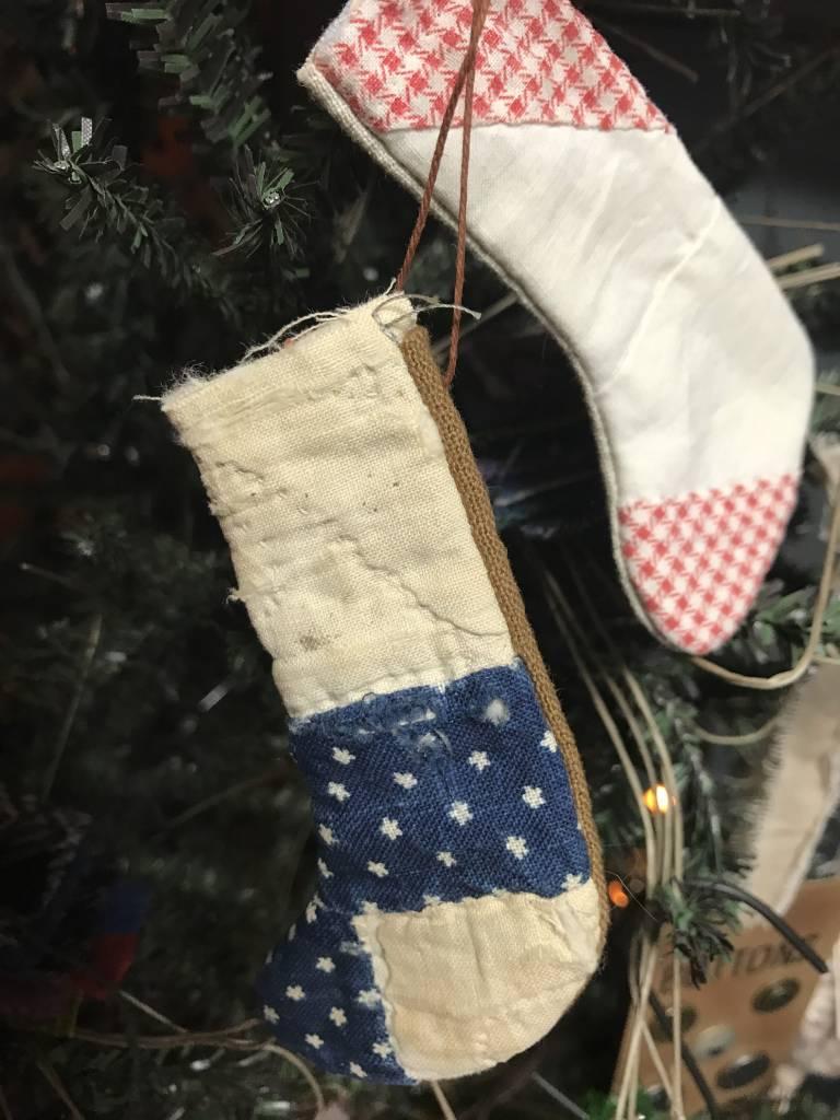 Homemade Cutter Quilt Stocking Ornament