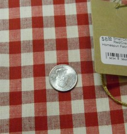 Dunroven House, Inc. Small Check Red/Cream Homespun Fabric