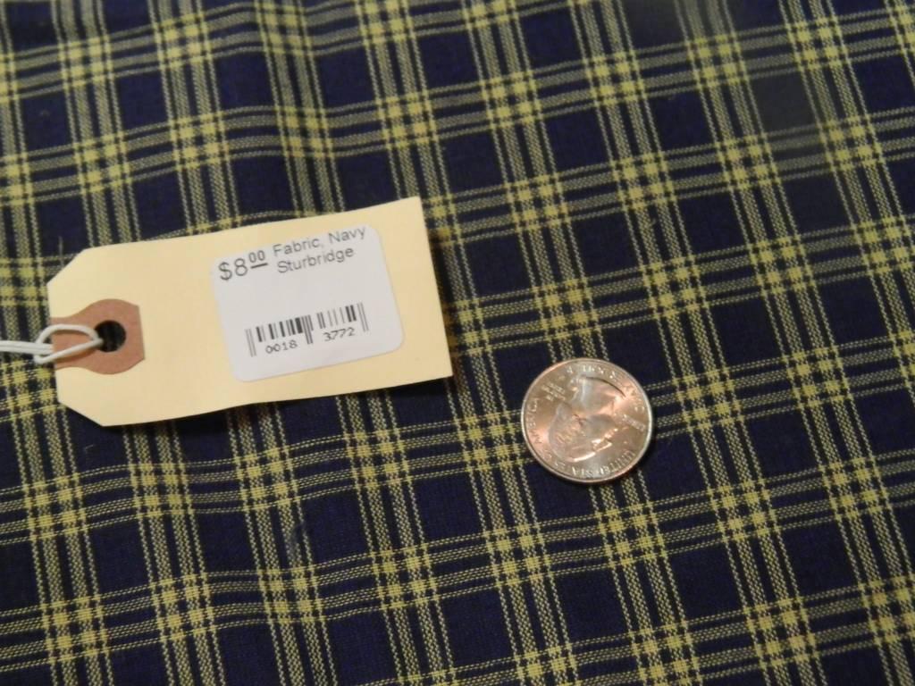 Dunroven House, Inc. Fabric, Navy Sturbridge