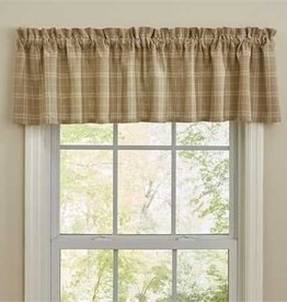 Park Designs Fieldstone Plaid Valance, Cream