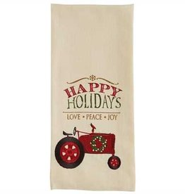 Park Designs Happy Holidays Tractor Dishtowel