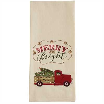 Park Designs Merry and Bright Truck Dishtowel