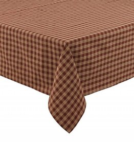"Park Designs Tablecloth, Sturbridge, Wine 54"" square"