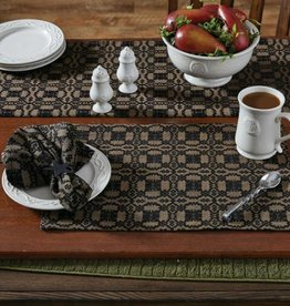 Park Designs Campbell Coverlet Black Placemat