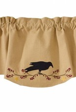 Park Designs Wave Valance, Crow with Star