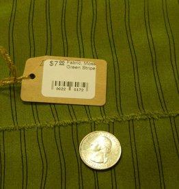 Fabric, Moss Green Stripe