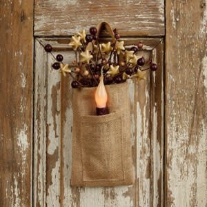 The Country House Collection Small Pocket Burlap Bag