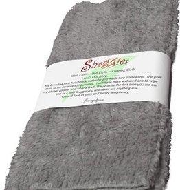 "Janey Lynn's Design, Inc. Shaggie, Goosie Grey set of 2   10""x10"""