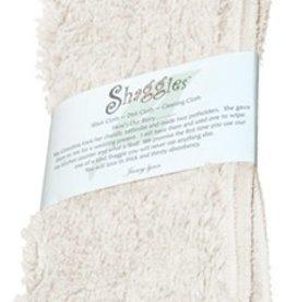 "Janey Lynn's Design, Inc. Shaggie, French Vanilla Set of 2  10""x 10"""