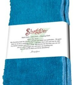 "Janey Lynn's Design, Inc. Shaggie, Blue Jewel Set of 2  10""x10"""