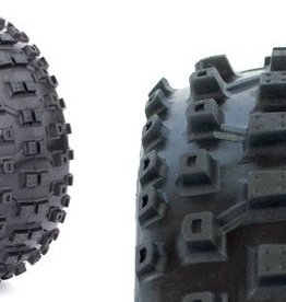 Aka Racing 14010SR 1/8 Buggy Moto Tire Soft w/Red Inserts (2)
