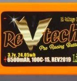 Trincorp. Llc REV2019 LiPo 1S 3.7V 6500mAh 100C Bullet