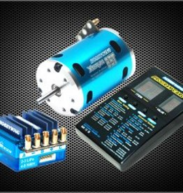 HobbyWing HWI81060050 JS5 COMBO BLUE, JUSTOCK CLUB SPEC ESC, SENSORED 17.5T MOTOR, DIGITAL LED PROGRAM CARD
