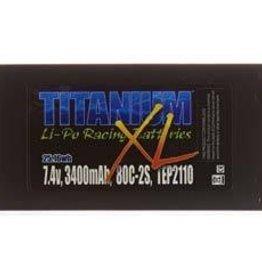 Trincorp. Llc TEP2110 Titanium XL LiPo 2S 7.4V 3400mAh