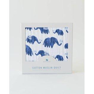 Little Unicorn Indie Elephant Muslin Quilt